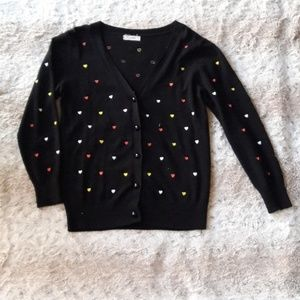 Cute Cardigans with Hearts Pattern
